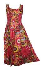 100% Cotton Long Boho Maxi Dress Sleeveless Party Evening Size 14 16 18 20 22 24