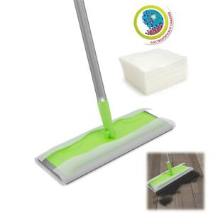 Super Wood Tile Laminate Floor Cleaner Static Cleaning Mop and Wet or Dry Wipes