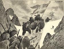 At Moonlight they took thier Dead Theodor Kittelsen Wall Art  Canvas