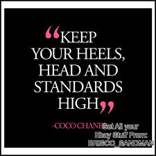 """Fridge Fun Refrigerator Magnet """"KEEP YOUR HEELS, HEAD AND STANDARDS HIGH"""" Shoes"""