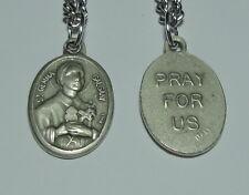 St Gemma Galgani Holy Medal & Chain Pharmacists Back Pain Headache Parachutists