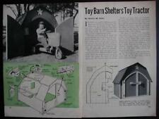 Toy Barn Playhouse or Garden Shed How-To build PLANS