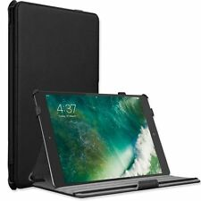 """Apple iPad 9.7"""" New 2017 Case Slim Built-in Stand Hand strap Genuine leather"""