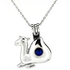 K835 Silver Alloy Cute Alpaca Beads Cage Essential Oil Diffuser Pendant