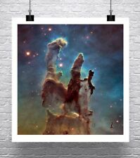 Pillars Of Creation Hubble Deep Space Rolled Canvas Giclee Print 24x24 in.