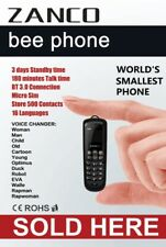 Zanco Bee Worlds Smallest Mobile Phone Tiny Mini Key Fob