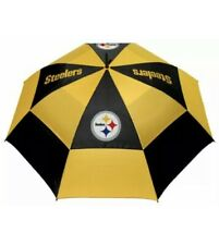 "Pittsburgh Steelers 62"" Double Canopy Nfl logo Windproof Umbrella, New"