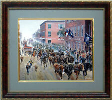 Iron Horses, Men of Steel Art  By Mort Kunstler Framed & Mated