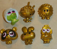 6 x MOSHI MONSTERS FIGURES ORIGINAL SERIES 1 FROM 2011 GOLD +BABY EGG DINO