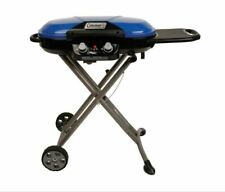 Gas Bbq Grill Propane Outdoor Portable Push Button Ignition 2 Burners Blue