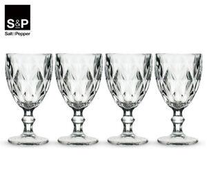 Set of 4 Salt & Pepper 320mL Camden Wine Glass - Clear  AA290