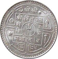 NEPAL 1938 50-Paisa SILVER Coin King TRIBHUVAN【Cat № KM# 718】UNC