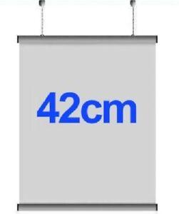 5x Pairs 42cm A2 Aluminium Poster Hanger Gripper Hanging Rail Pair