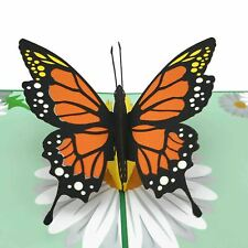Orange Butterfly 3d pop up greeting card
