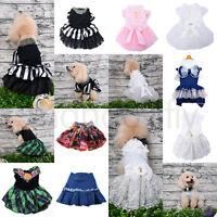 Small Pet Dog Wedding Tutu Dress Princess Lace Skirt Apparel Clothes XMAS Gift