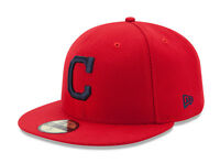New Era 59Fifty MLB Cap Cleveland Indians 2017 Alt On Field Fitted Hat - Red