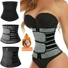 US Waist Trainer Cincher Trimmer Sweat Belt Slim Body Shaper Sauna Shapewear GYM