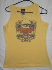 HARLEY DAVIDSON FRANKFURT, GERMANY ~ SLEEVELESS YELLOW T-SHIRT ~ WOMEN'S X-LARGE