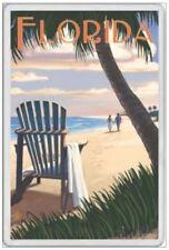 FLORIDA - JUMBO FRIDGE MAGNET - MIAMI ORLANDO UNITED STATES AMERICA DISNEY WORLD