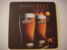 Beer Breweriana Coaster: Guinness Kilkenny, The Authentic Red of Dublin, Ireland