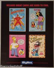 Simpsons Trading Cards Series Promo 4 Card Uncut Sheet BONGO Skybox 1993