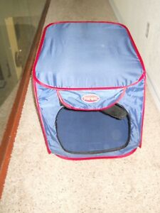 "SportPet Pop Open Dog Kennel, Blue,  Medium, 32"" L x 20"" W x 19"" H"
