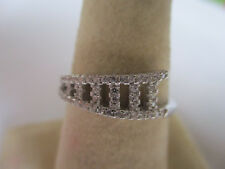 925 silver with Cz size 7 Gorgoues Sterling Silver Stair band style solid