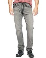 $400 True Religion Men'S Gray Jeans Straight Fit Denim Pants Size 36w 30l