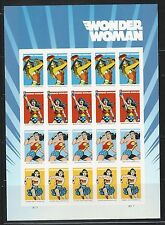 2016 Wonder Woman Forever Stamps Pane of 20 MNH