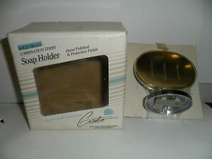 Gatco Elite Collection Soap Holder Solid Brass/Chrome Combination- 5025