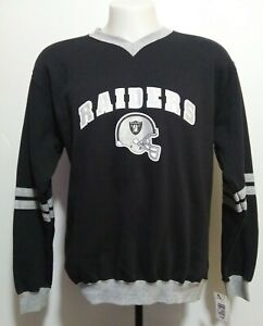 VF Imagewear Oakland Raiders V Neck Graphic Medium Pullover Sweater 2007 NWT