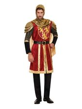 Adult Mens Medieval Warrior Knight Crusader Costume One Size Fancy Dress Party