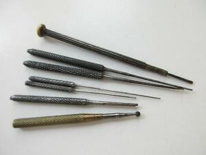 Vintage - antique broaching tools for watchmaker