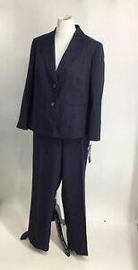 Le Suit Womens 2 Piece Straight Leg Pant Suit Size 16W  UK 20 Reg $240.00