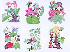 Paper Cuts Flowers & Insects and Birds Set 8 colorful pieces Chen 1 packet Lot