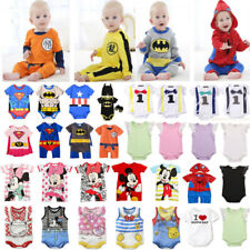 UK Toddler Baby Girl Boy Kid Clothes Romper Jumpsuit Bodysuit Outfit Top Costume