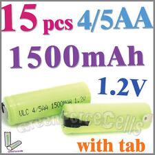 15 4/5 1500mAh AA NiMH 1.2V Rechargeable Battery w/ tab Green