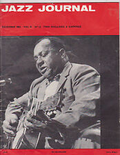 DEC 1963 JAZZ JOURNAL vintage music magazine BIG JOE WILLIAMS