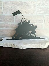 Metal Battle of Iwo Jima set in stone, House decoration