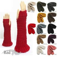 NEW HIGH QUALITY WARM  WINTER ARM WARMER KNIT FINGERLESS GLOVES / 9038