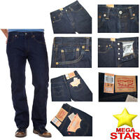 Levis 501 Jeans Men's Original Levi's Strauss Denim Straight Fit New All Sizes