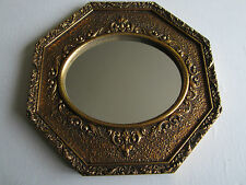 "VINTAGE WALL MIRROR E.A. RIBA CO. INC. Gilded 8 sides Hollywood Regency 14.5"" W"
