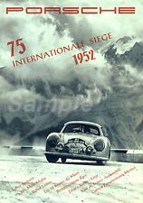 Vintage PORSCHE 75 siège International Motor Racing A2 Poster Print