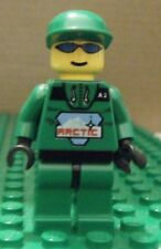 LEGO MINIFIGURE – TOWN – ARCTIC – GREEN, GREEN CAP – GENTLY USED