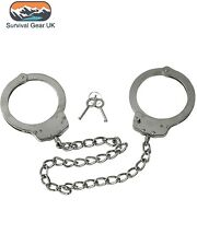 Police Leg Cuffs Anklecuffs Legirons Double Locking Heavy Duty Carbon Steel 4805