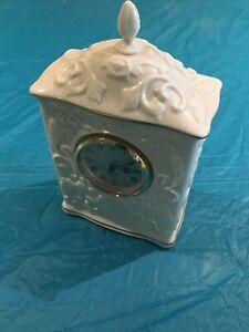 Elegant Lenox Georgian Collection Porcelain Quartz Mantel Clock-Discontinued