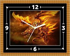 Pheonix Dragon Bird Clock Gift Present Christmas Birthday (Can Be Personalised)