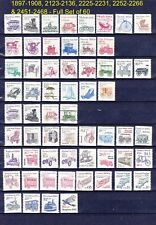 US Transportation Coils Complete MNH OG 1897//2468 Set of 60 Issues View Scan
