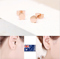 New Women Girls 18K Rose GOLD Plated 5mm Cute Fashion Stud Earrings