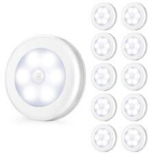 3/6/10*LED PIR Motion Sensor Wireless Night Lights Battery Cabinet Closet Lamp